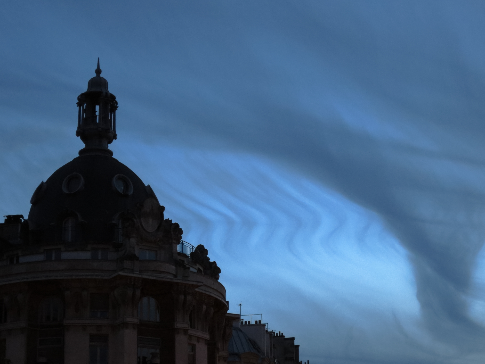 Lovely clouds behind a Parisian dome
