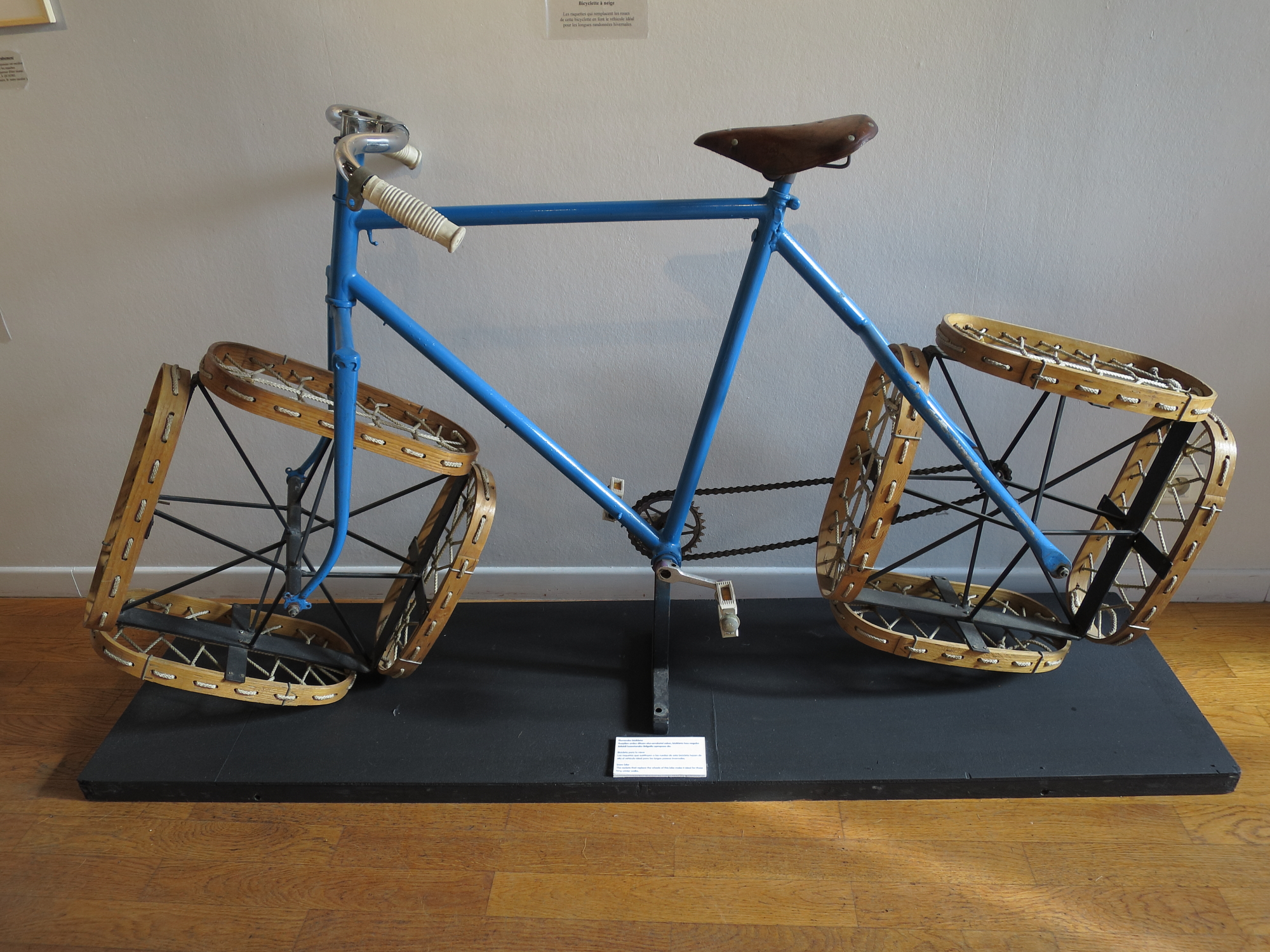 Snow bicycle by Jacques Carelman at the Galerie les Yeux Fertiles