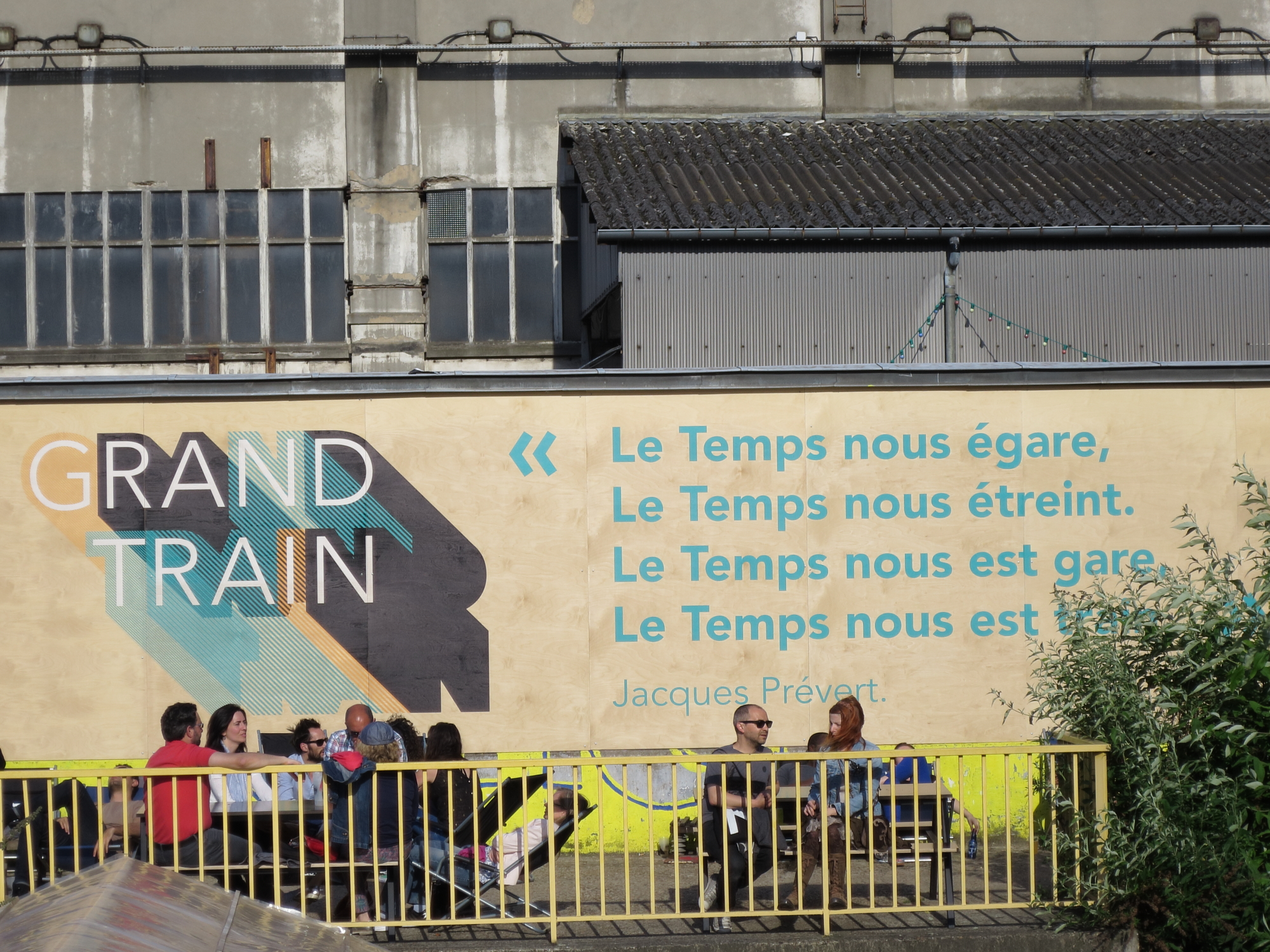 """Time misleads us. Time hugs us. Time is our station. Time is our train."" --Jacques Prévert at Le Grand Train"