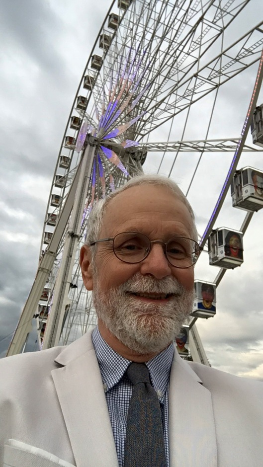 Waiting for Omar at the Ferris Wheel at Place de la Concorde
