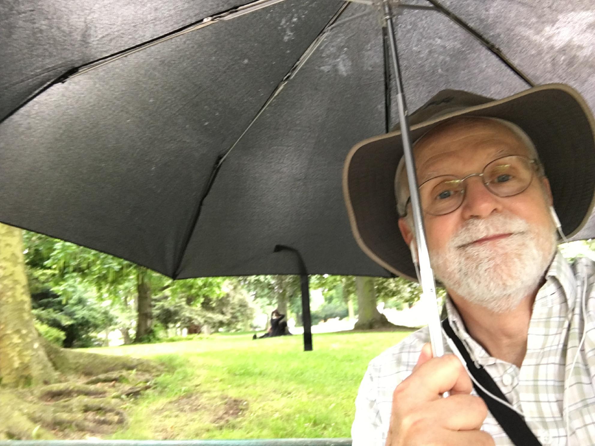 Rainy moment at Parc Montsouris
