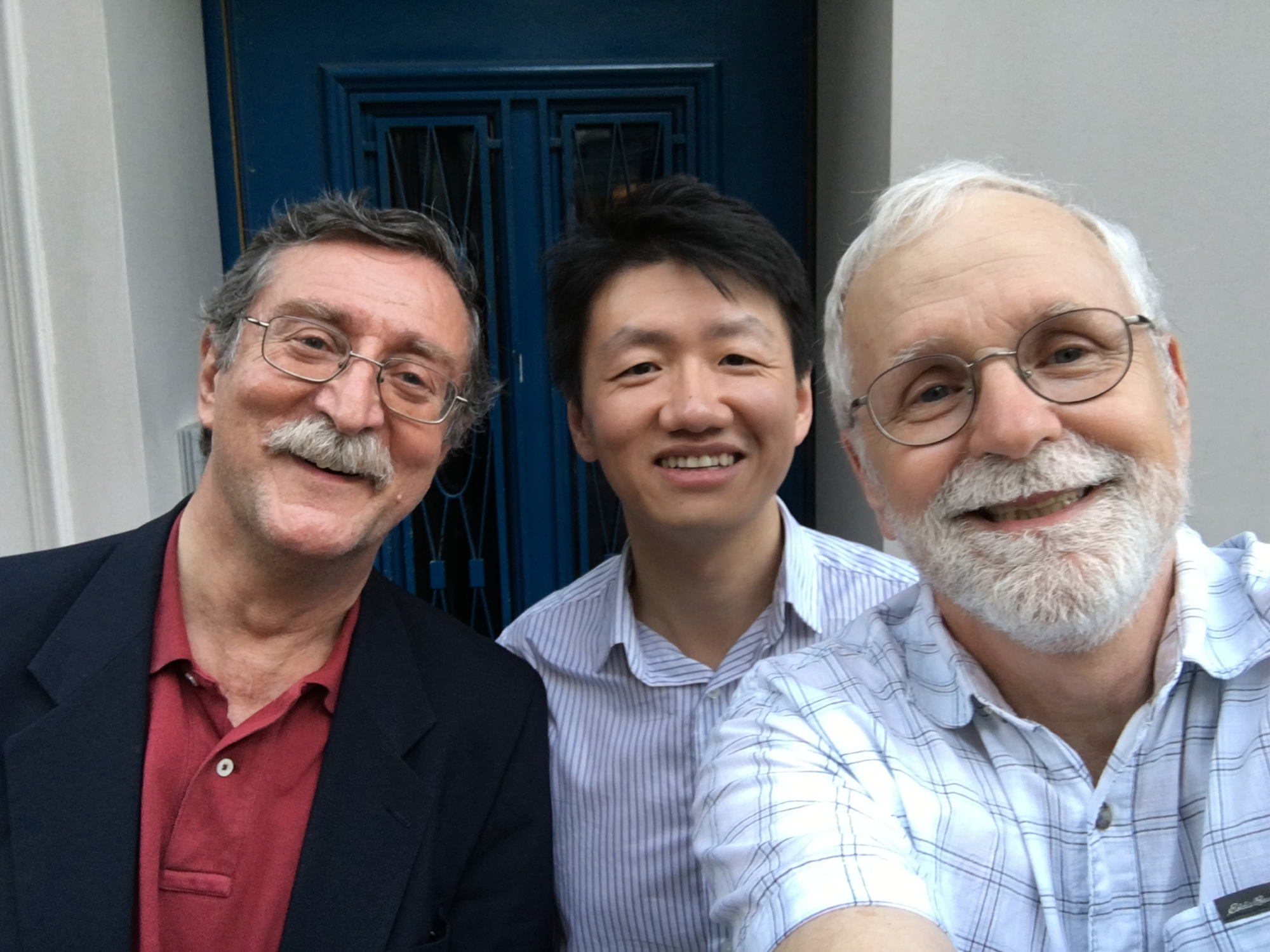 Ali, Zhizhong and me on our way to dinner.